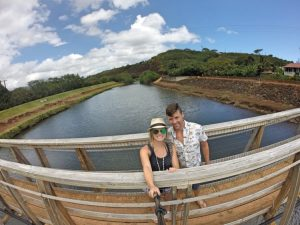 Grant and Rachel on swinging bridge