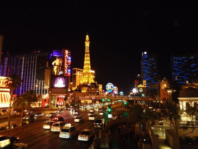 A view of the Las Vegas strip