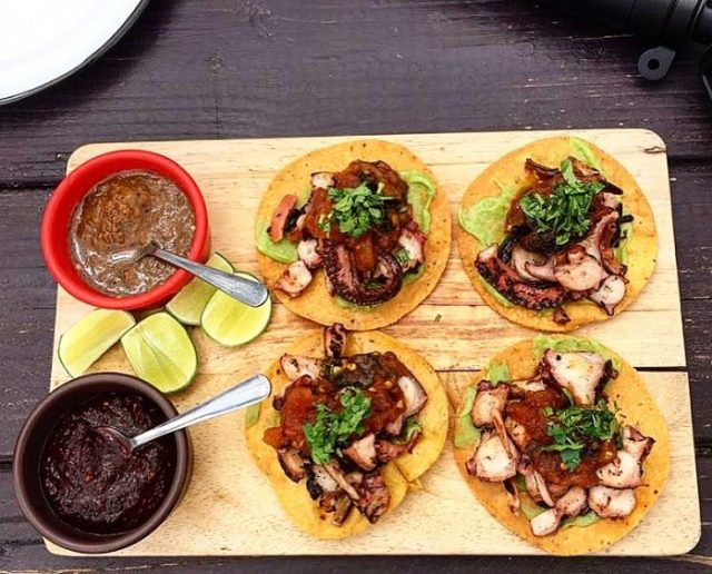 pulpo tacos at vena cava