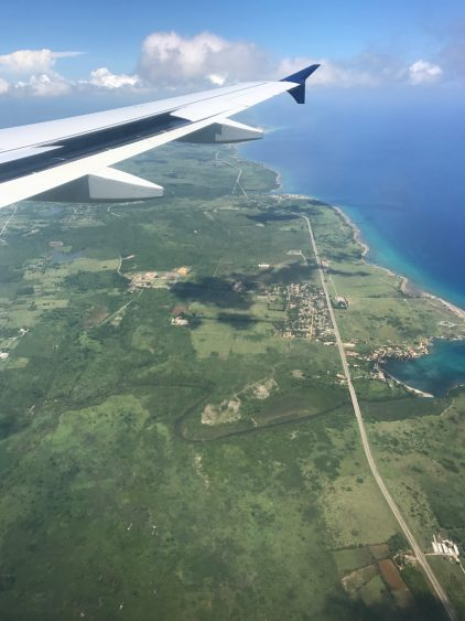 Flying over Cuba