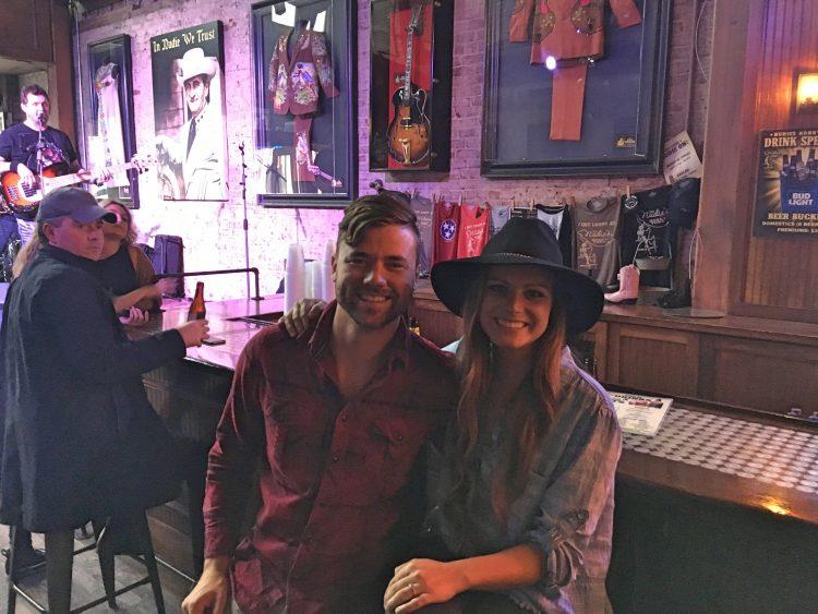 Grant and Rachel in a Nashville Honky Tonk