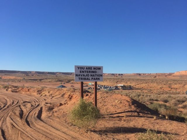 Navajo Nation sign