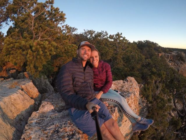 watching sunset at the grand canyon