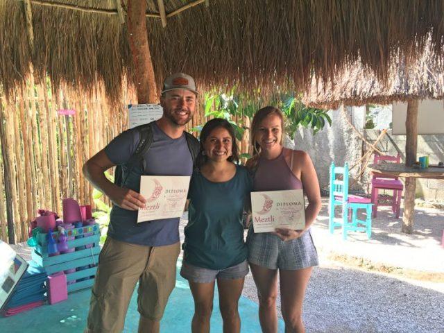 Grant and Rachel graduate Metzli Spanish School