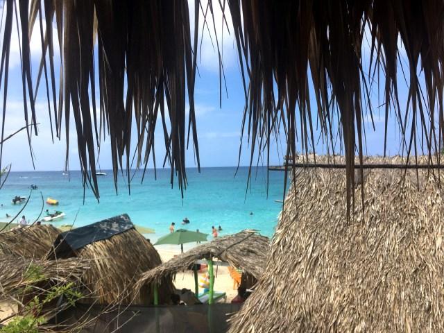 view from hostel icthus on isla baru