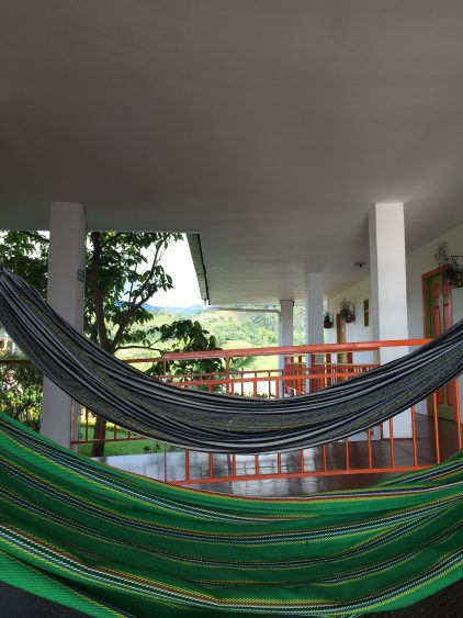 hammocks at viajero salento