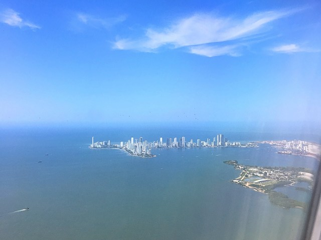 view of cartagena from plane