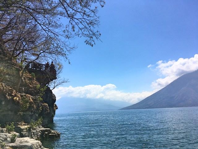 Cerro Tzankujil jumping platform