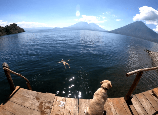lake atitlan floating