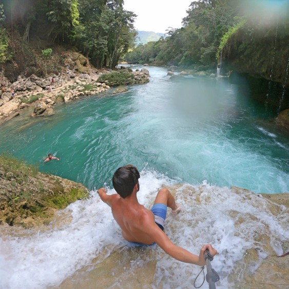 top of waterfall semuc champey