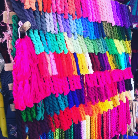 fabric in chichicastenango