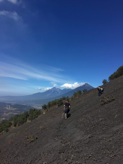 hiking volcano pacaya