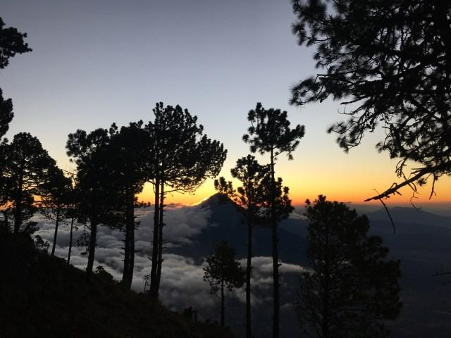 sunrise volcanos acatenango
