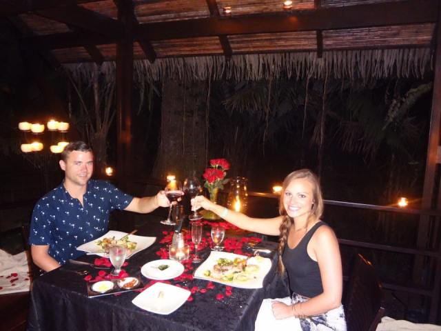 honeymoon costa rica dinner