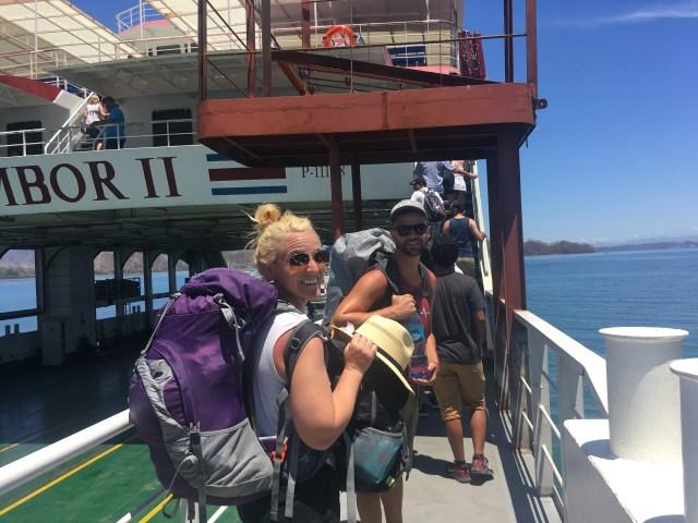 on ferry across nicoya