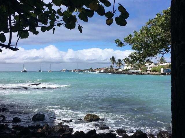 bay in galapagos