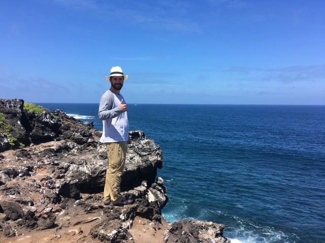 beach hike galapagos