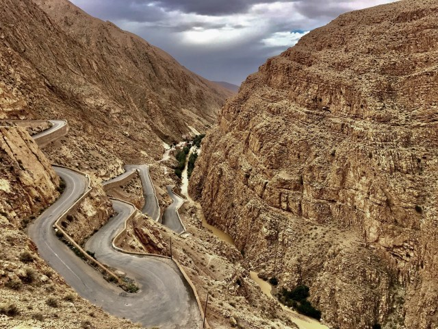 windy road at dades gorge