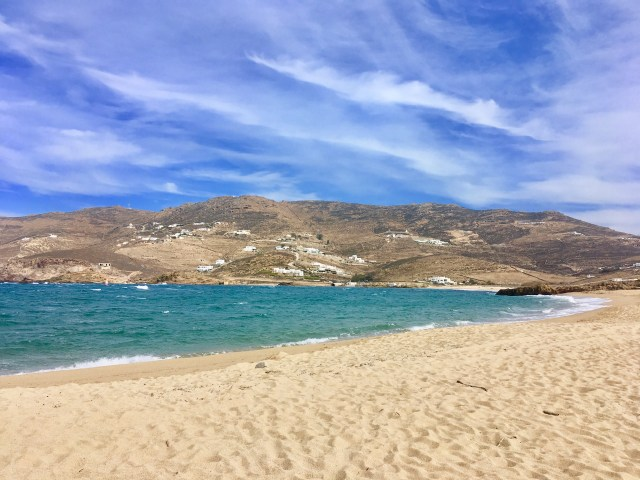 mykonos sand