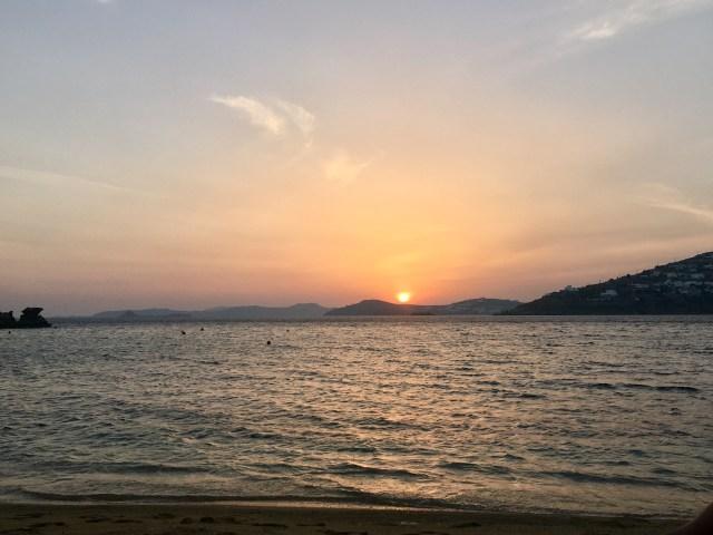 sunset mykonos