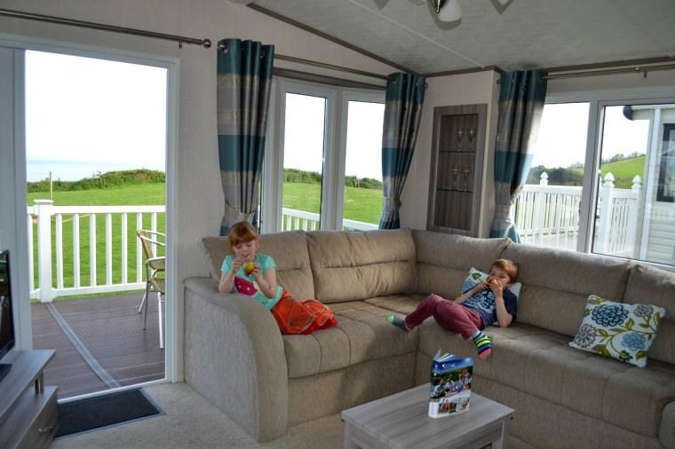 Our caravan at Ladram Bay Holiday Park in Devon