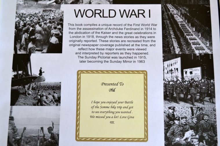 Personalised World War I Centenary Book