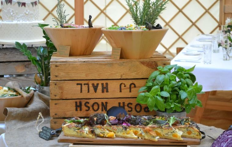 Posh Nosh wedding food Devon