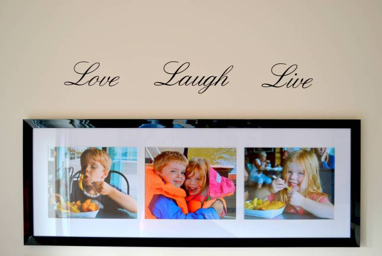 Love laugh live wall sticker