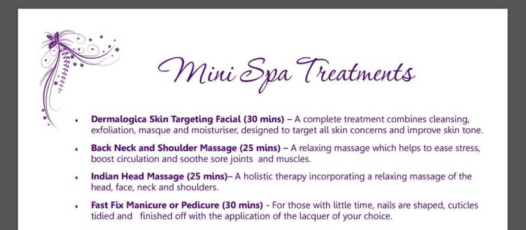 Mini spa treatments at China Fleet Country Club in Saltash