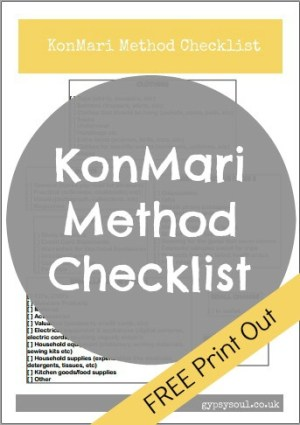 KonMari method checklist - FREE print out to help take your decluttering to a new level