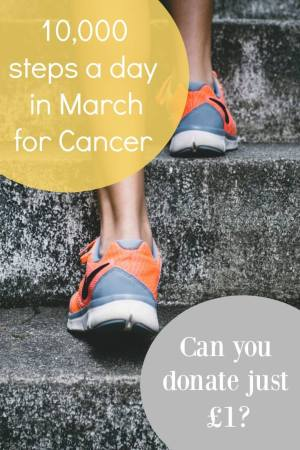 10,000 steps a day in March for cancer