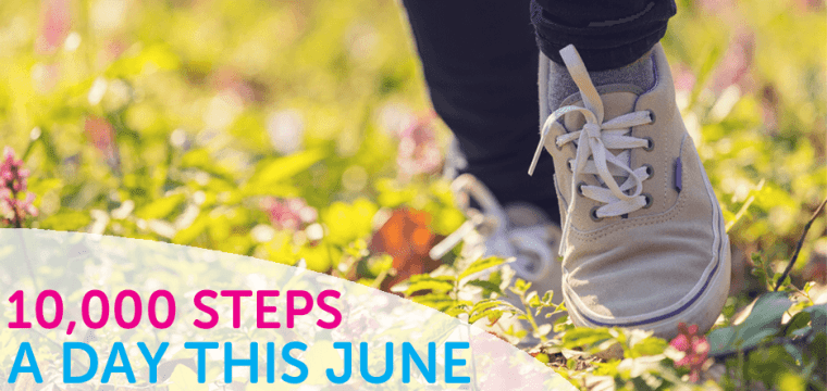 10,000 steps a day in June