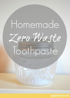 Homemade zero waste toothpaste