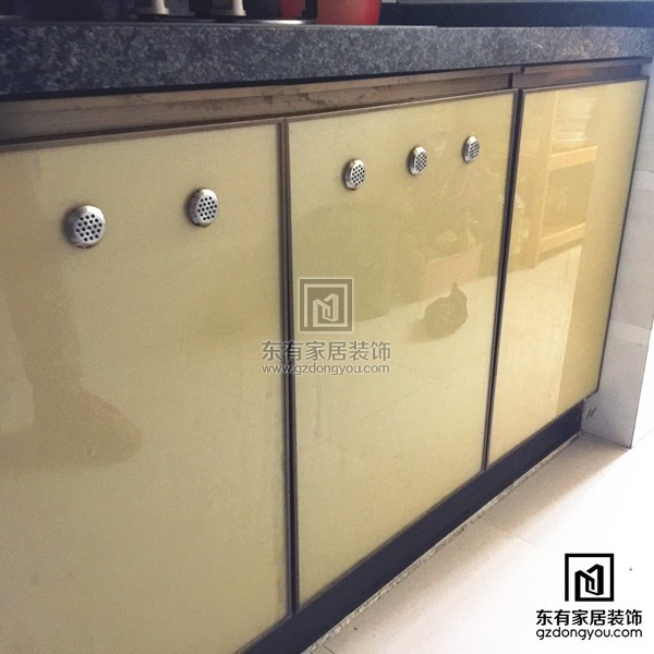 kitchen cabinet door replacement lowes recycled countertops 盈彩美居张先生全铝厨柜门更换 小区案例 东有家居装饰