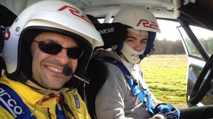 Jose Antonio Suarez Cohete con Paolo Andreucci en WRC Academy