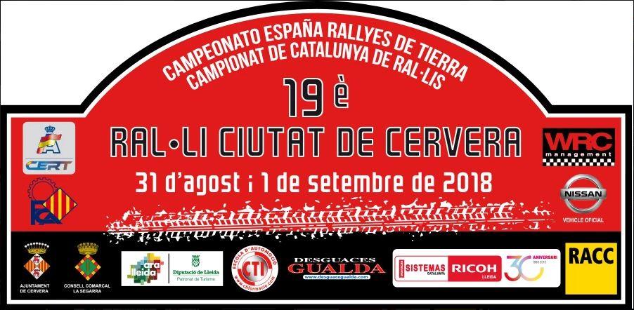 19 Rally Ciutat de Cervera 2018