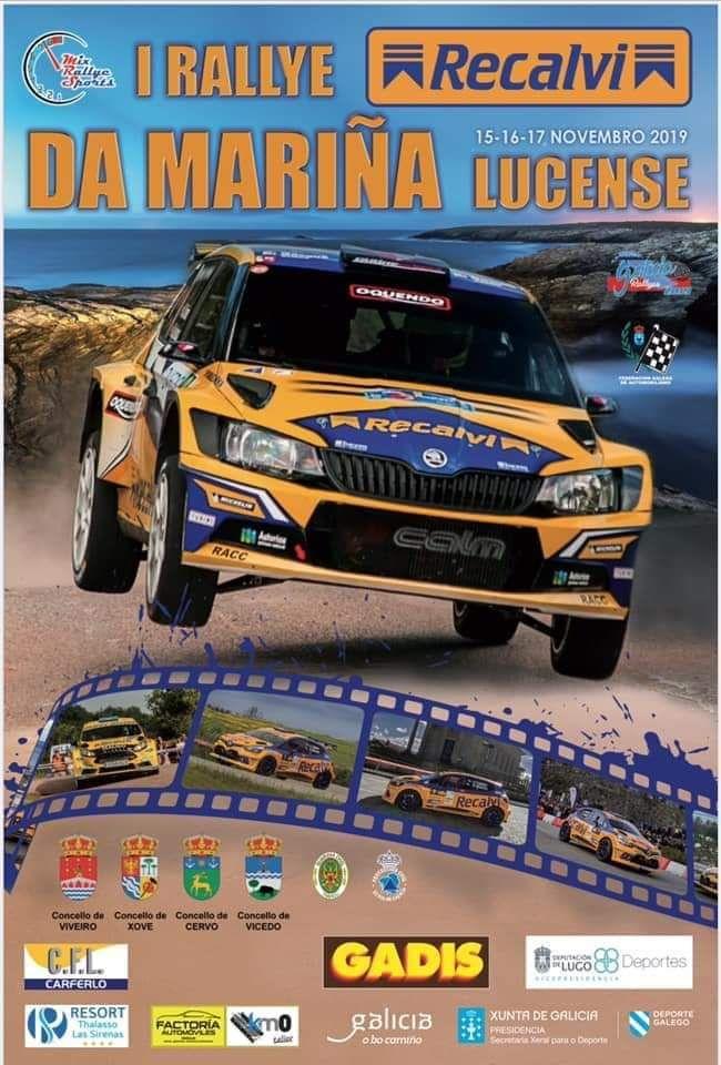 Cartel Rally Mariña Lucense 2019