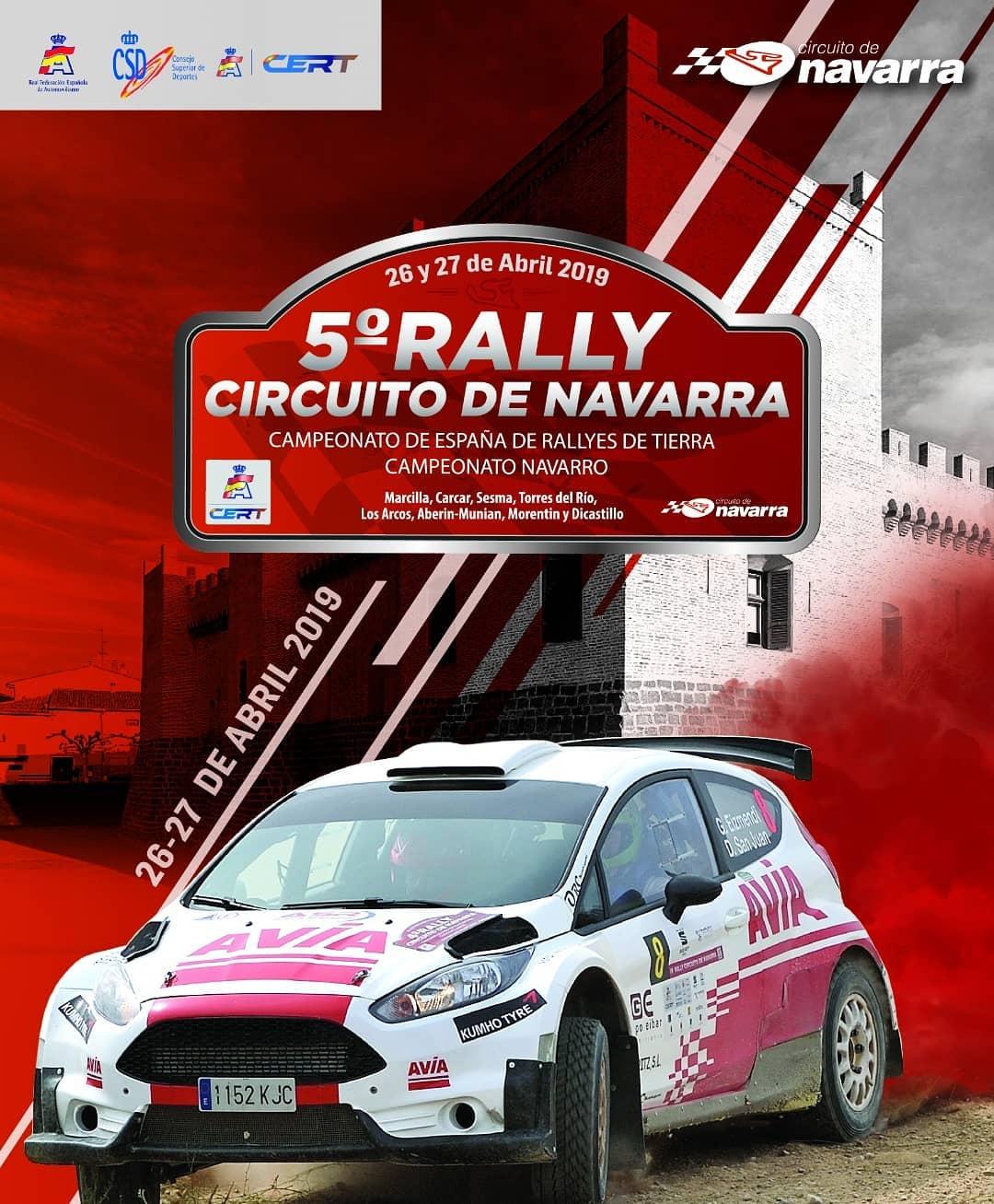 cartel rally circuito de navarra 2019