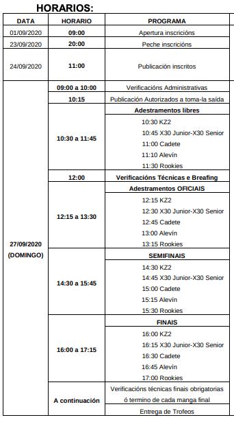 Programa Horario Porriño 2020