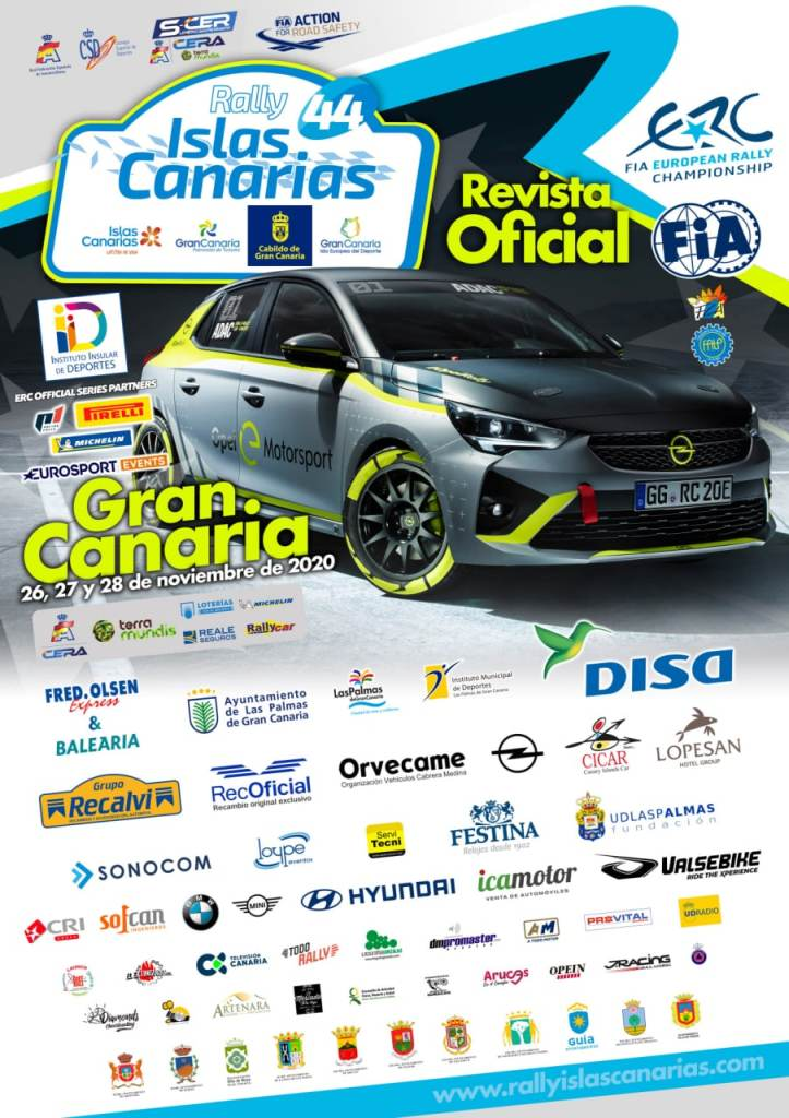Cartel Rally Islas Canarias 2020