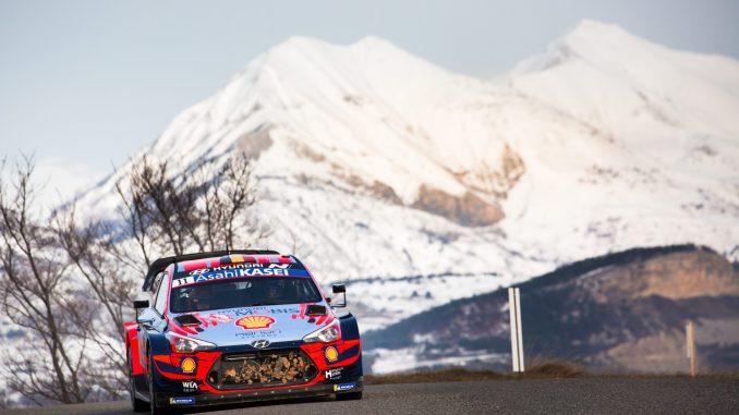 Thierry Neuville en el Rally de Montecarlo 2020