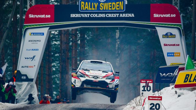 Toyota Racing en el Rally de Suecia 2019