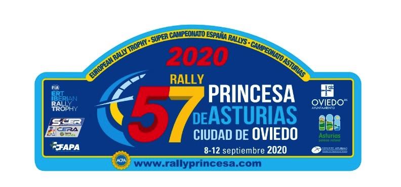 Placa Rally Princesa de Asturias 2020