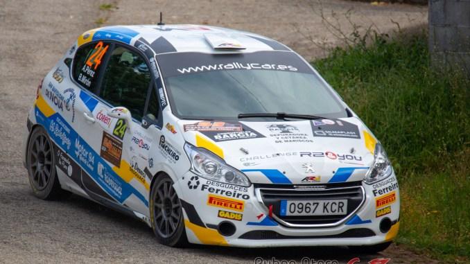 Perez Miron en el Rally de Ourense 2020
