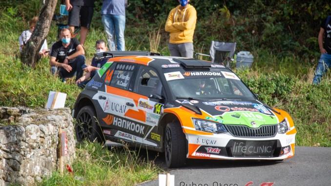 Luis Vilariño en el Rally de Ferrol 2020