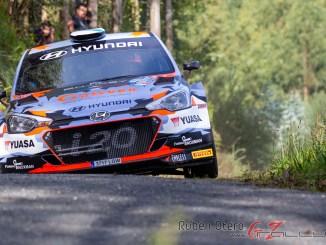 Ivan Ares en el Rally de Ferrol