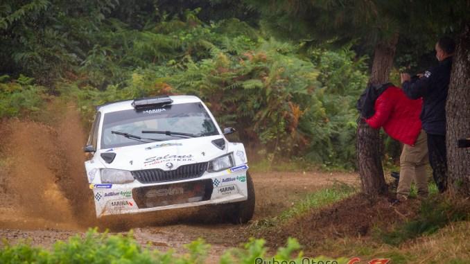 Nil Solans en el Rally Terra da Auga 2020