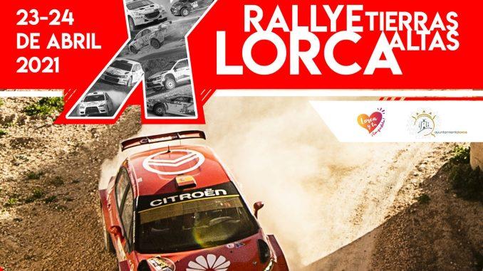 Cartel Rally Tierras Altas de Lorca 2021