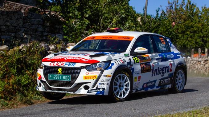 Roberto Blach en el Rally de Ourense 2021