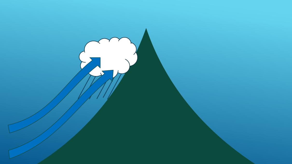 山間部の雨雪 フェーン現象